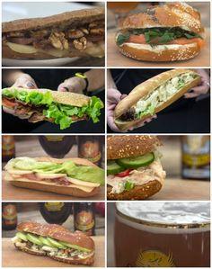 7 εύκολα γκουρμέ σαντουιτς Bread Art, Quick Recipes, Sandwiches, Mexican, Snacks, Ethnic Recipes, Food, Roll Ups, Fast Recipes
