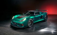 Download wallpapers Lotus Exige Cup 430, 2018, Special Edition, green Exige, sports coupe, tuning Exige, British cars, Lotus, aerodynamic body kit, carbon