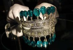 This emerald and diamond tiara is estimated to sell for $5-10 million.