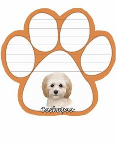 Cockapoo Notepad With Unique Die Cut Paw Shaped Sticky Notes 50 Sheets Measuring 5 by 47 Inches Convenient Functional Everyday Item Great Gift For Cockapoo Lovers and Owners ** Be sure to check out this awesome product.