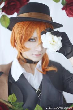 aiyu(嗳瑜) Chuya Nakahara Cosplay Photo - Cure WorldCosplay ..... this is beautiful wahhhh