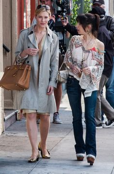 Cate Blanchett filming Woody Allen's Blue Jasmine, carrying a #Birkin bag - Rent a #Birkin at #starbags_eu!