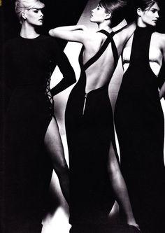 Versace, circa 1991Models: Linda Evangelista, Christy Turlington & Helena Christensen