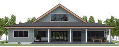Home Plan CH572 Metal Homes Floor Plans, Metal Building House Plans, Steel Building Homes, Farmhouse Floor Plans, Modern Farmhouse Exterior, Barn Style House Plans, Pole Barn House Plans, Basement House Plans, Cabin House Plans