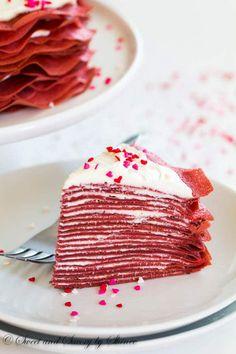 Red Velvet Crepe Cake via @shineshka