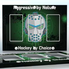 DIY Do It Yourself Home Decor - Easy to apply wall plate wraps | Aggressive by Nature - Hockey by Choice  Nuclear hockey mask  wallplate skin sticker for 3 Gang Decora LightSwitch | On SALE now only $5.95