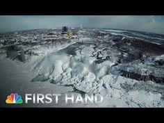 Freeze Frame: Drone Captures Niagara Falls on Ice - It may have felt too cold on Friday in much of the East to even think of walking outside. But since drones don't feel cold, why not fly one over a mostly frozen Niagara Falls?