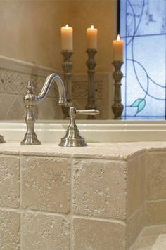 1000 images about master bath ideas on pinterest for Tumbled marble bathroom designs