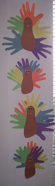 hand and foot print turkeys-cute and easy kids craft
