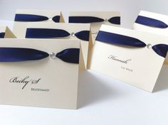 Luxury Place Cards Name Cards Place Setting by WholeCaboodleDesign