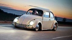 Stanced VW Beetle