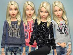 Lana CC Finds - Printed Sweatshirt for Girls P11 by lillka
