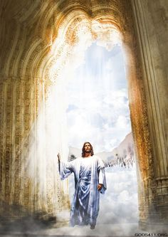 Jesus Christ is the King of kings. Heaven Pictures, Jesus Pictures, Heaven Images, Image Jesus, Jesus Christus, Saint Esprit, A Course In Miracles, Foto Art, Jesus Is Lord