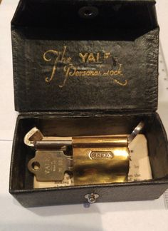 Antique Yale The Personal Lock in Collectibles, Tools, Hardware & Locks, Locks, Keys | eBay