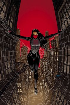 """Forget Marvel's Spider-Woman; this girl deserves the title more! It's the first issue of """"Silk"""" - giving the girl who also was bitten by the same radioactive spider her own life."""