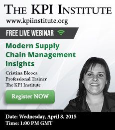 This webinar is designed on a modern approach of the supply chain, seen through an in-depth performance management perspective.