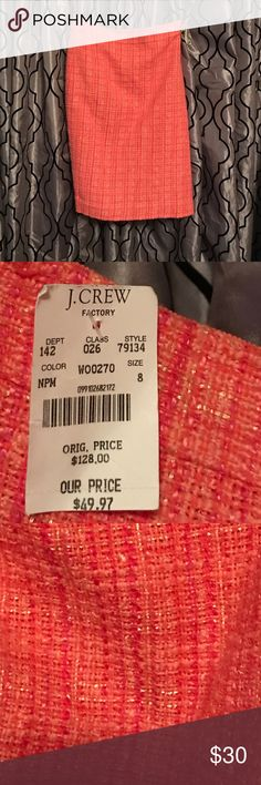 NWT J. Crew No. 2 Pencil skirt Multi colored brand new pencil skirt! Size 8, measures 22 inches in length. Gorgeous skirt! J. Crew Factory Skirts Pencil