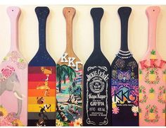 Custom Painted Paddle by PrettyPaintedPaddles on Etsy