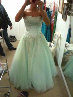 Mint prom dress<3