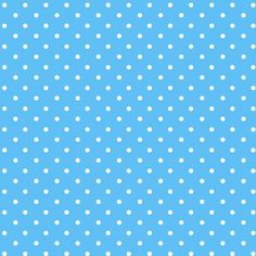 white poke a dots with med. blue backround
