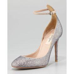 Women's Valentino Crystal-Covered Tango Stiletto Pump