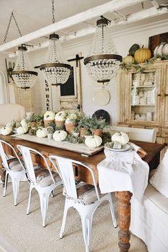 Rustic Garden Fall Dining Room Table