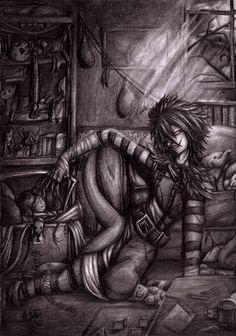Silent Night by Curse-of-Lolth on DeviantArt Creepypasta Girls, Creepypasta Slenderman, Creepypasta Characters, Laughing Jack, Jeff The Killer, Pop Goes The Weasel, Eyeless Jack, Dhmis, Scary Stories