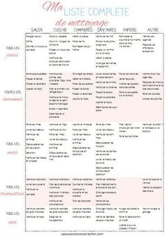 Housekeeping schedule for a clean house