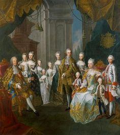 Martin van Meytens Franz I. Stephan and Maria Theresia of Austria with their children Date Maria Christina and Marie Elizabeth are the older girls in blue robe de cour. MARIE ANTOINETTE is the smallest girl in a white robe de cour Austria, Henrietta Maria, Maria Theresia, French Royalty, Francis I, Holy Roman Empire, Queen Photos, European History, European Style