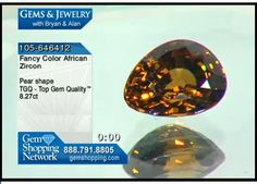 8ct African zircon reflects all the colors of gold as it sparkles in the light.