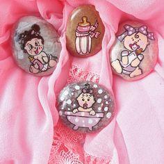 Kız bebekler için taş magnet örneklerim..