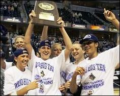 Katie Douglas helped Purdue hoist two Big Ten trophies and the NCAA championship trophy.