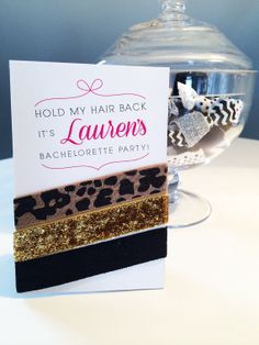 Hair Ties for Bachelorette Party - Custom Favors on Etsy, $5.50 Maybe we could make something like this.