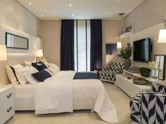 Home Decoration On A Budget 40 Navy Master Bedroom Decor Ideas Decoration On A Budget 40 Navy Master Bedroom Decor Ideas Dream Bedroom, Home Decor Bedroom, Master Bedroom, Decor Room, Bedroom Ideas, Fancy Bedroom, Tv In Bedroom, Bedroom Curtains, Bedroom Modern