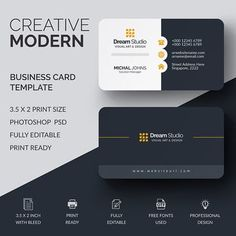 More than 3 millions free vectors, PSD, photos and free icons. Exclusive freebies and all graphic resources that you need for your projects Art Business Cards, Black Business Card, Elegant Business Cards, Professional Business Cards, Business Card Design, Business Ppt, Creative Business, Visiting Card Templates, Visiting Card Design