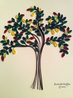 Rachielle's Quilling: Quilling a Tree