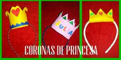 Tutorial para hacer corona de princesa en fieltro o goma eva. Manualidad DIY crown princess