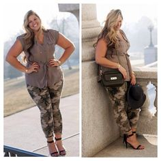 """""""Have you seen my {new blog post} TODAY? If not, please go to www.socuteandcurvy.com for all the pretty pics & outfit details ☺️#socuteandcurvy #camo…"""""""