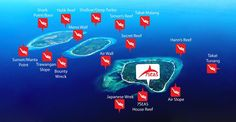 Gili Dive Sites Map
