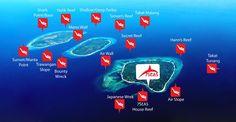 Gili Dive Sites Map