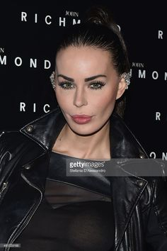 Nina Moric attends the John Richmond Show during the Milan Menswear Fashion Week Fall Winter 2015/2016 on January 18, 2015 in Milan, Italy.
