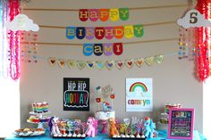 My Little Pony Rainbow Dash Birthday Party via Kara's Party Ideas KarasPartyIdeas.com Invitation, cake, supplies, recipes, games, and more! #mylittlepony #rainbowparty #rainbow #rainbowbirthday #mylittleponyparty (7)