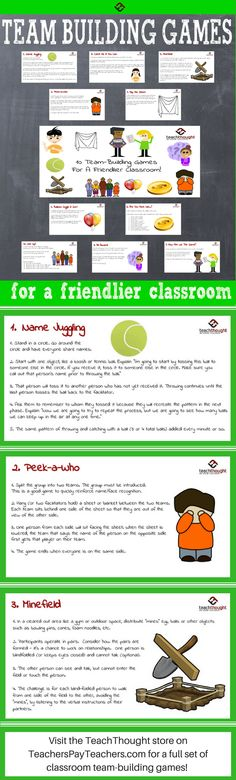 Help students become friends and create a collaborative environment in your classroom with these team-building game ideas. Team Theme, A Team, Class Meetings, Self Contained Classroom, Thing 1, Training And Development, Team Building Activities, Beginning Of School, Social Skills