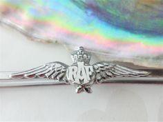 RAF Sweetheart Pin Bar Brooch Love Token Silver-Tone Metal Pre 1952 Militaria