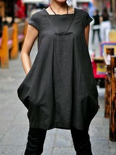 I love interesting tops with great details like this for over leggings