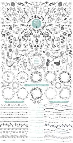 Designer's Hand Sketched Megapack by Lisa Glanz on Creative Market