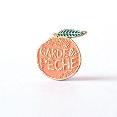 """littlealienproducts: """" Garde la Peche Pin by LolitaPicco """""""