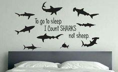 Shark Bedroom Decor Lovely Shark Room Decor to Go to Sleep I Count Sharks Not Sheep Shark Bedroom, Shark Nursery, Kids Bedroom, Bedroom Ideas, Go To Sleep, Baby Sleep, Best Kids Watches, Shark Gifts, Boy Room