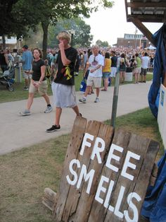 """If you were selling soap or something that has a scent this is a cute sign that would drawn in people.. Last pinner- """"Images from my Thursday at the Iowa State Fair"""""""