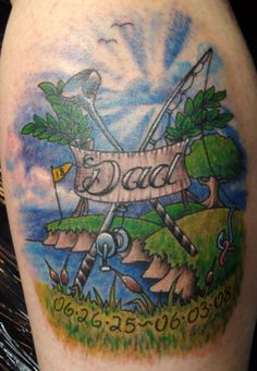 Ideas for a memorial tat for dad Golf Tattoo, Club Tattoo, Tattoo Art, Tribal Tattoos, Tattoos Skull, Daddy Tattoos, Frog Tattoos, Shane Tattoo, Golf Clubs For Sale